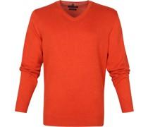 Pullover V Orange