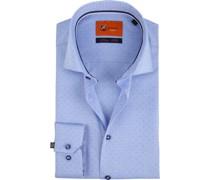 Hemd Oxford Dots Blau