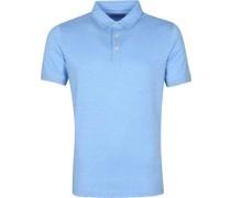 Prestige Melange Polo Shirt Blau