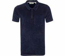 Polo Shirt Half Zip Akbob Navy