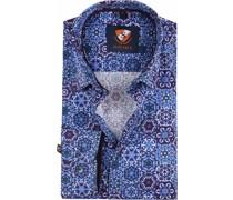 Hemd Blau Lila Dessin