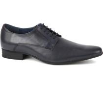 Leder Schuh Derby Navy