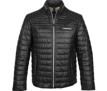 Terenzio Leather Schwarz Jacke