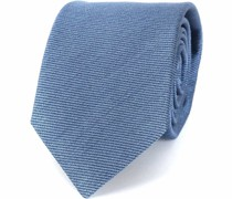 Krawatte Tussahseide Blau
