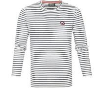 Sweater Streifen Dunkelblau