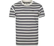 T-shirt Akrod Tofu Streifen Navy