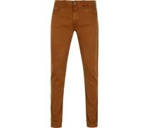 Jeans V7 Rider Colored Braun