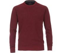 Pullover O-Halsausschnitt Melange Rot