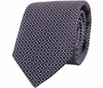 Krawatte Kariert Navy