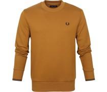 Sweater Logo Hellbraun