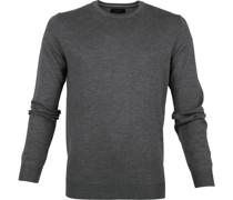 Pullover O-Ausschnitt dunkelgrau
