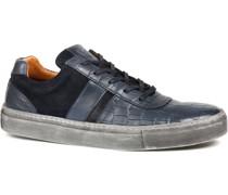 Sneaker Croco Dunkelblau