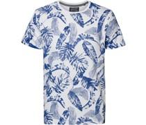 T-Shirt Blumen Blau