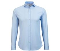 Hemd Bügelfrei Blau Oxford