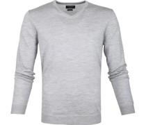 Pullover Merino V-Hals Grau