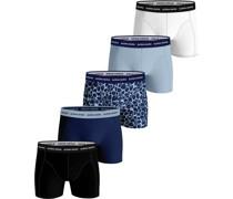 Shorts 5er-Pack Fourflower Blau