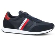 Sneaker Runner Low Stripes Navy