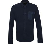 Hemd Garment Dye Navy
