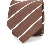 Krawatte Twill Streifen Braun