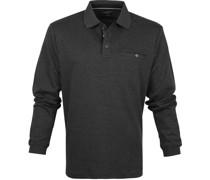 Poloshirt LS Dunkel Grau