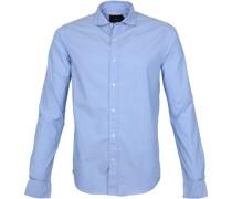 Hemd Yarn-Dye Blau