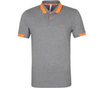 Poloshirt Big Stripes Grau