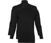 Oster Rollkragen Longsleeve Shirt Schwarz 2-Pack