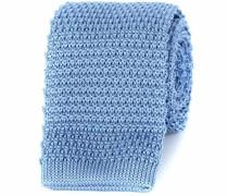 Krawatte Gestrickt Wolle Blau