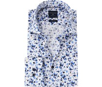 Hemd Polka Dot Blau