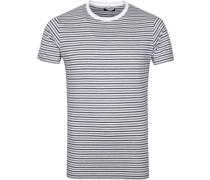 T-Shirt Streifen Weiss