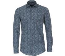 Freizeithemd Paisley Blau