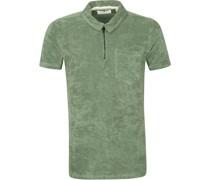 Polo Shirt Half Zip Akbob Grun