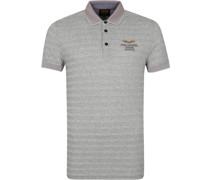 Poloshirt Streifen Grau