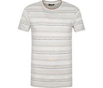 T-Shirt Streifen Hellgrau