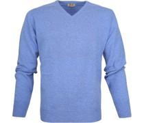 Pullover V Surf Mid Blue