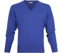 Pullover V Persian Royal Blue