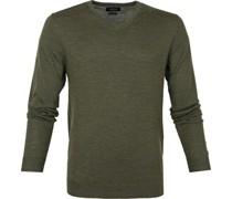 Pullover Merino V-Hals Army