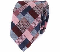 Krawatte Seide Bordeaux