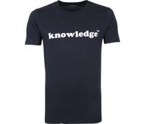 Knowledge Cotton Apparel T-shirt Dunkelbau