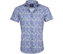 Hemd Leaves Blau