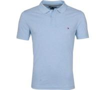 Polo Shirt Sweat Blau