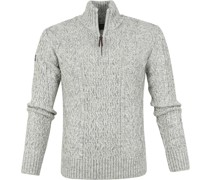 Henley Sweater Grau