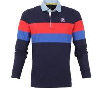 (NZA) Langarm Poloshirt Windsor Blau