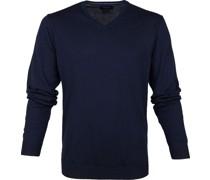 Pullover V-Hals Marine