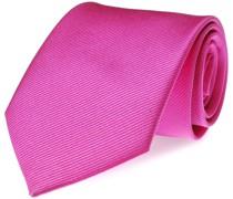 Krawatte Seide Fuchsia Uni F21