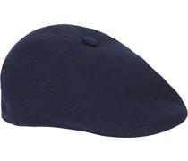 Flat Cap Knitted Dunkelblau