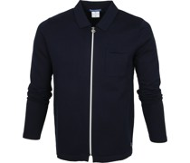 Zipper Cardigan Polo Navy