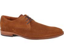 Herren Schuh Leder Cognac