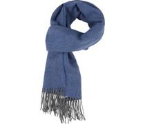 Schal Gewebt Blau