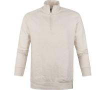 Sweater Half Zip Beige